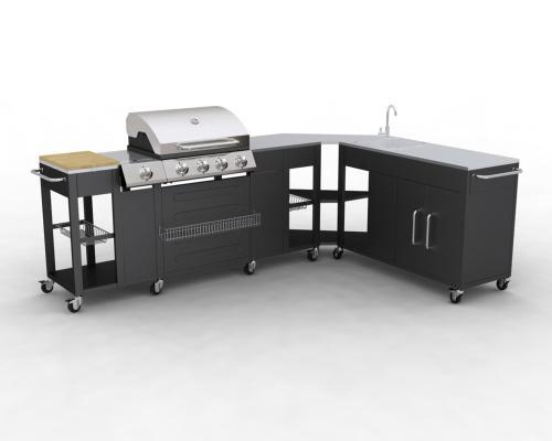 barbecue gaz grand meuble cuisine d angle modulable