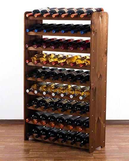 casier a vin bois massif 63 bouteilles wengee
