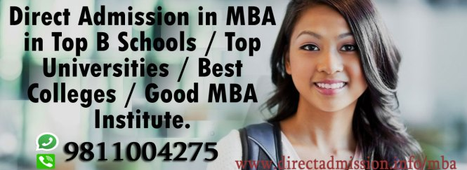 Direct admission 2018 MBA colleges
