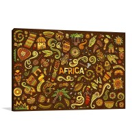 African Doodle Wall Art Print In Home Decor Design Styles