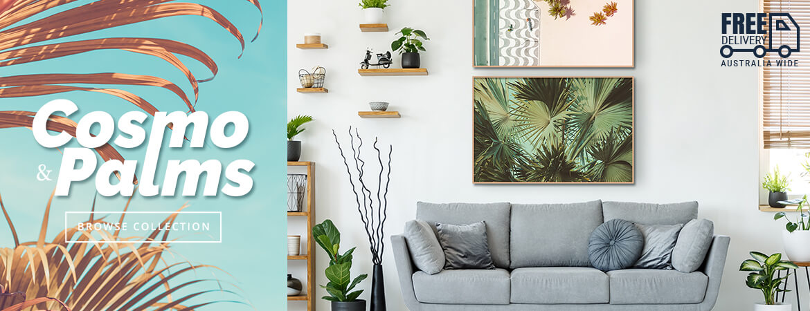 wall prints for living room australia unique cozy rooms new art paintings on canvas online gallery cosmo palm print