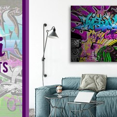 Wall Prints For Living Room Australia Grey Paint Ideas Graffiti Canvas Artwork Street Art Online On