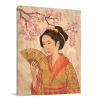 Large Canvas For Sale of Japanese Geisha Art Print