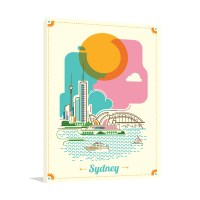 Modern Sydney Art Print | Stretched Canvas Vector For Sale