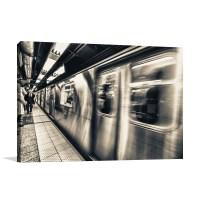New York Subway Wall Art Print   Modern Art Deco Interiors