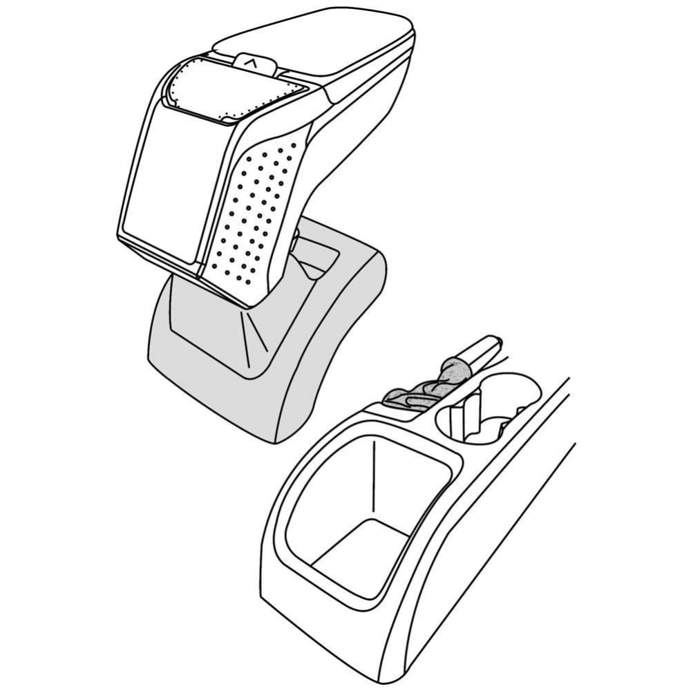 Armster 2 premium car armrest for Ford Focus MK2 from
