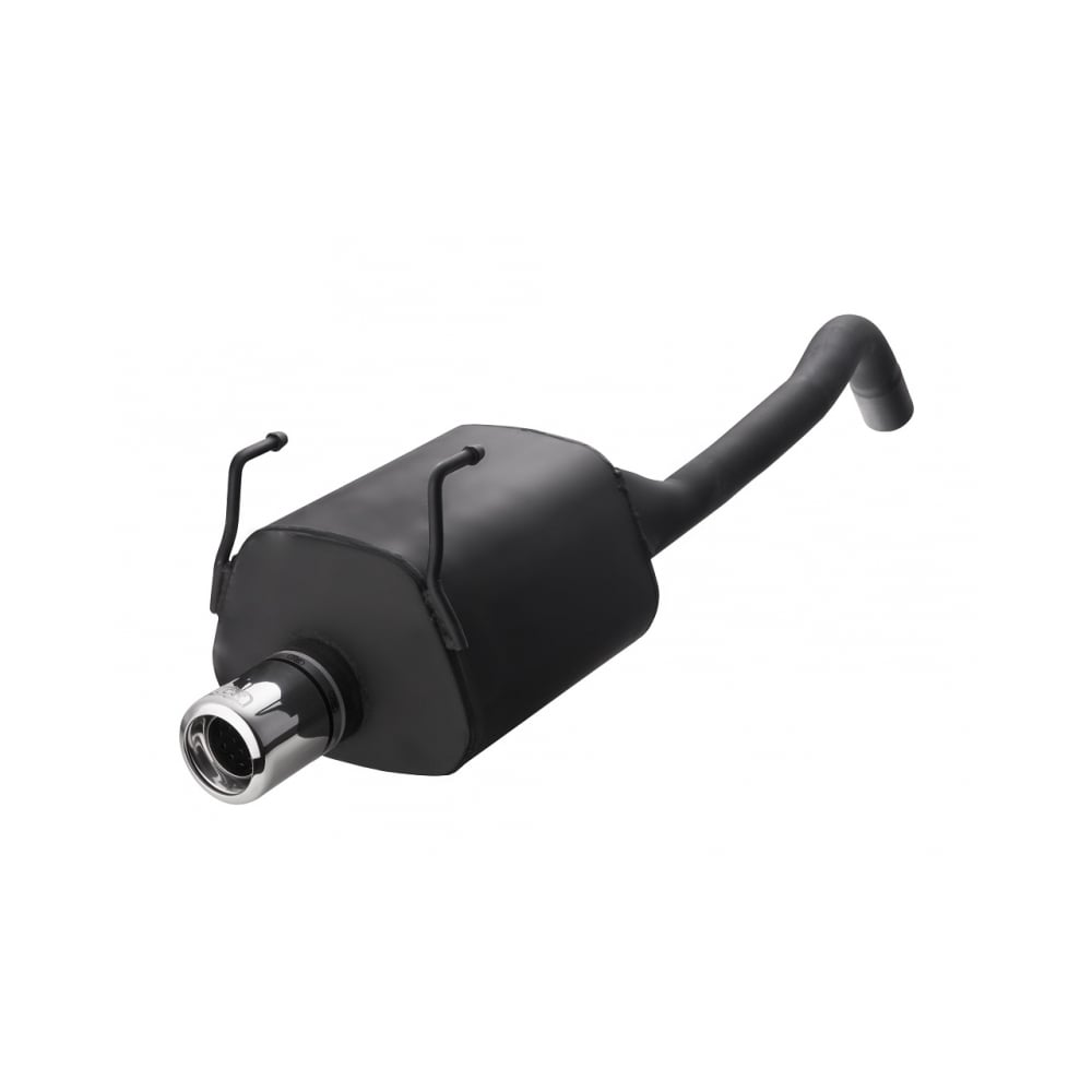 performance rear exhaust silencer for the fiat 500 2008 to 2015 model