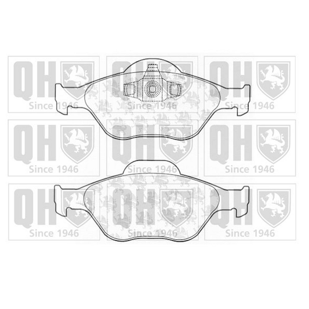 hight resolution of quinton hazell quinton hazell front brake pad set for ford fiesta mk5 and mk6