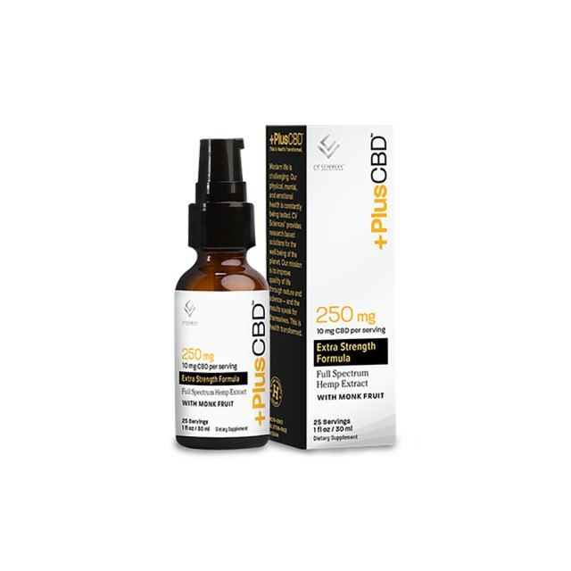 PlusCBD? Extra Strength CBD Tincture Oil - Unflavored (Gold Formula) 250mg
