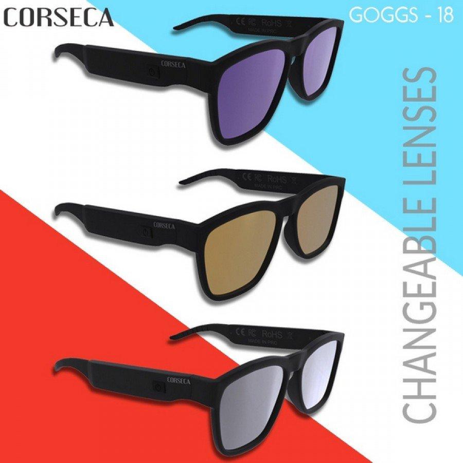 549121bbd4 CORSECA GOGGS 25 Waterproof Bluetooth Sunglasses with Speaker ...