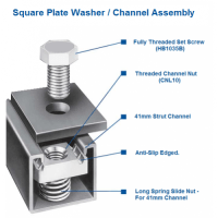 M12 Square Plate Washer Hot Dip Galv. - (Box of 100)