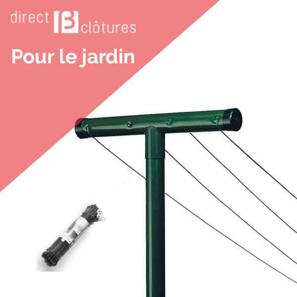 Kit Etendage A Linge Exterieur Poteaux Et Fils Direct Clotures