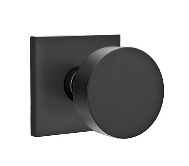 Emtek Round Modern Door Knob with Square Rosette