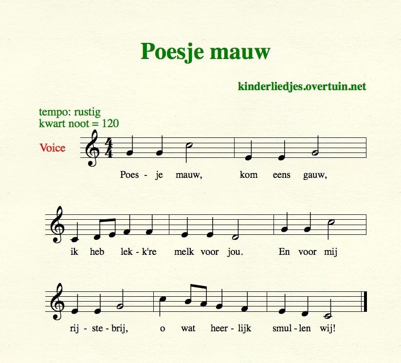 poesje_mauw_bladmuziek