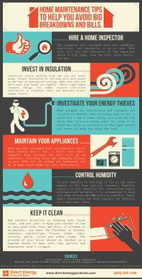 Home Maintenance Tips Infographic | Direct Energy ...