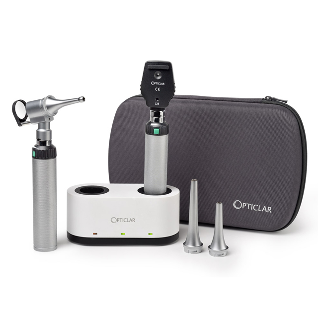 Opticlar Veterinary LED Slit Otoscope Set