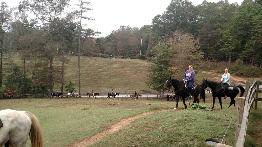 Horseback riding at Blanche Manor
