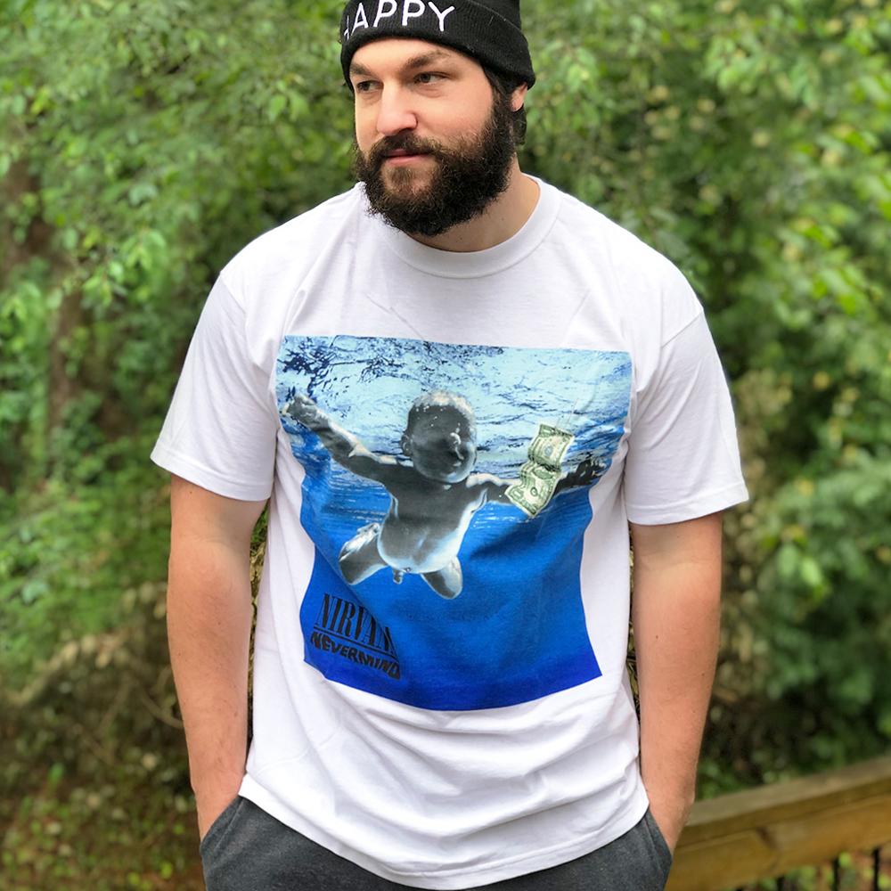 Nirvana band t-shirt at Deaf Man Vinyl in McCaysville, GA