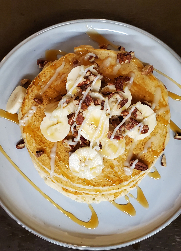 Breakfast pancakes at Farm House Blue Ridge, GA