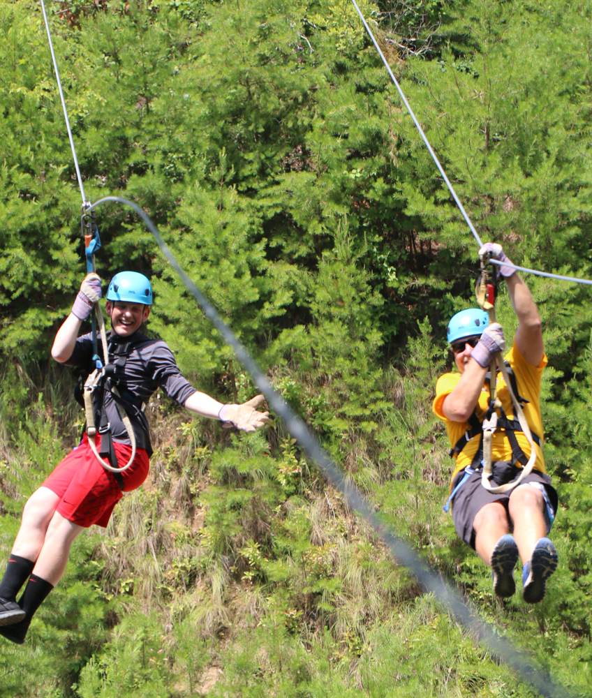 ziplining at Ocoee Canopy Tours in Ducktown, TN