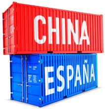 Comercio entre España y China.