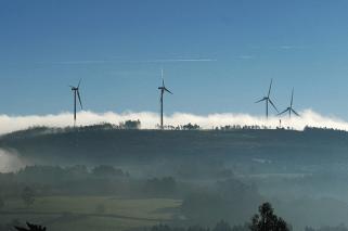 Parque de energía eólica.
