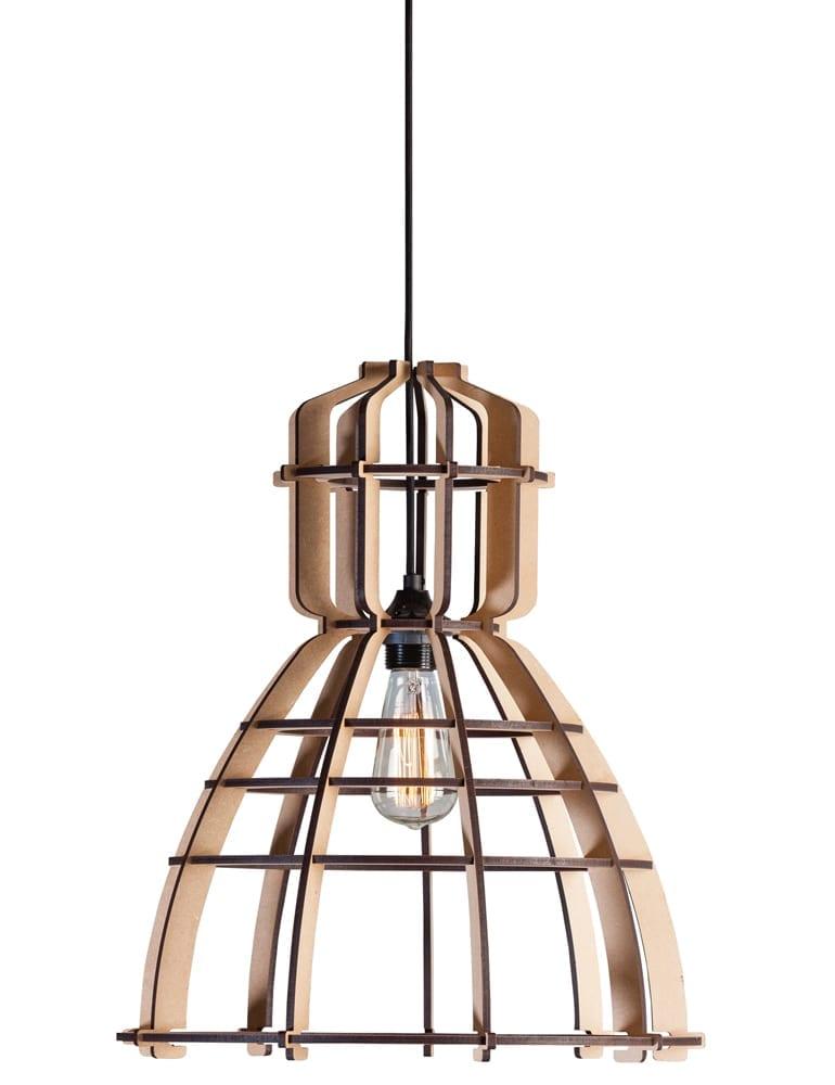 Design hanglamp lichtlab NO19 bruin 42 cm