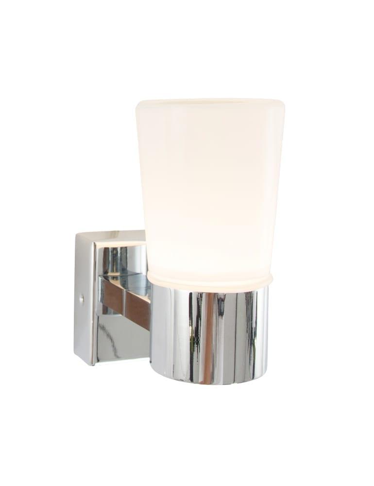 Badkamer wandlamp IP44 chroom en glas Directlampennl
