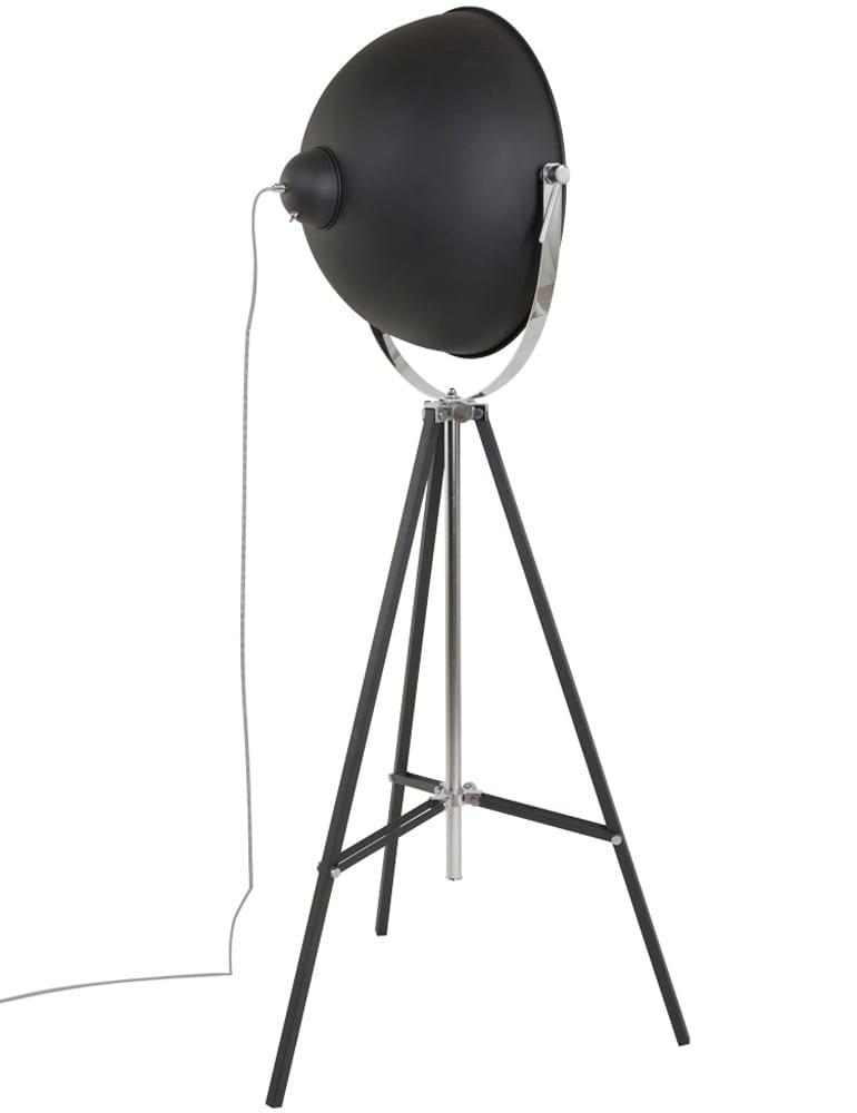 Stoere vloerlamp Lumidem Eelco zwartgoud 163 cm