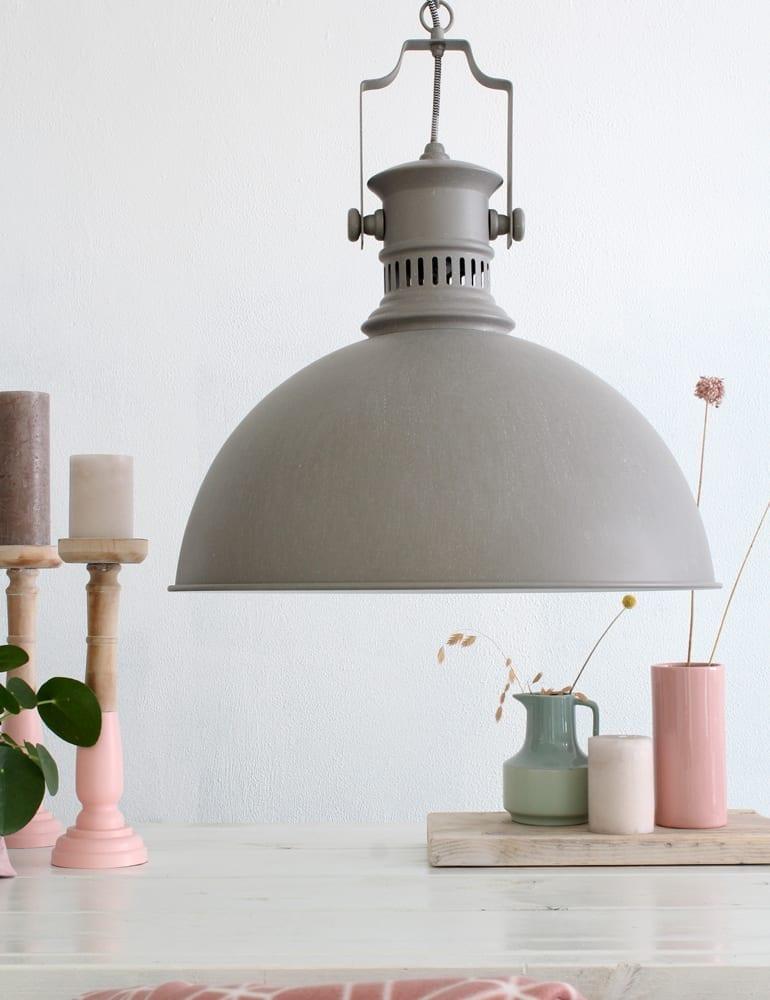 Brocante hanglamp Yenna landelijk 50 centimeter