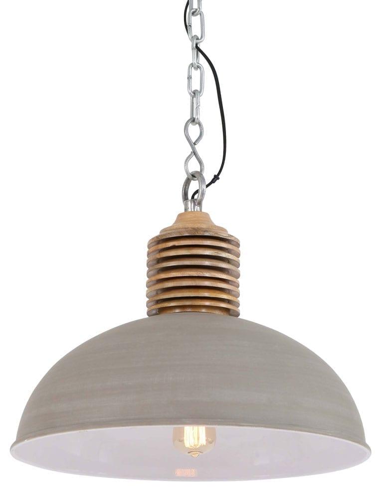 Grote landelijke hanglamp beige kleur  Directlampennl