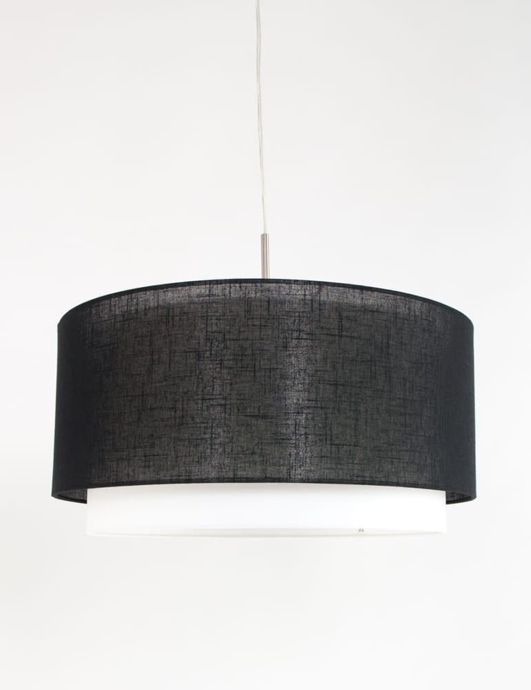 Kunstzinnige dubbele hanglamp Freelight Camelot zwart