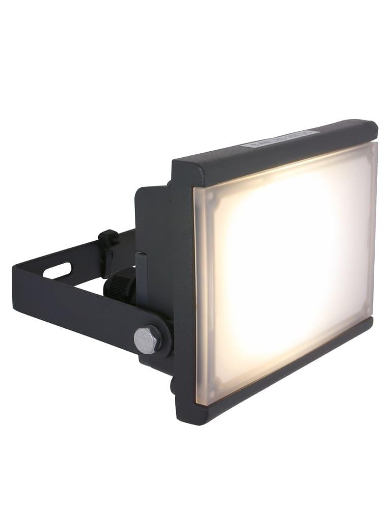 Kantelbare sensor wandlamp Globo Radiator III antraciet