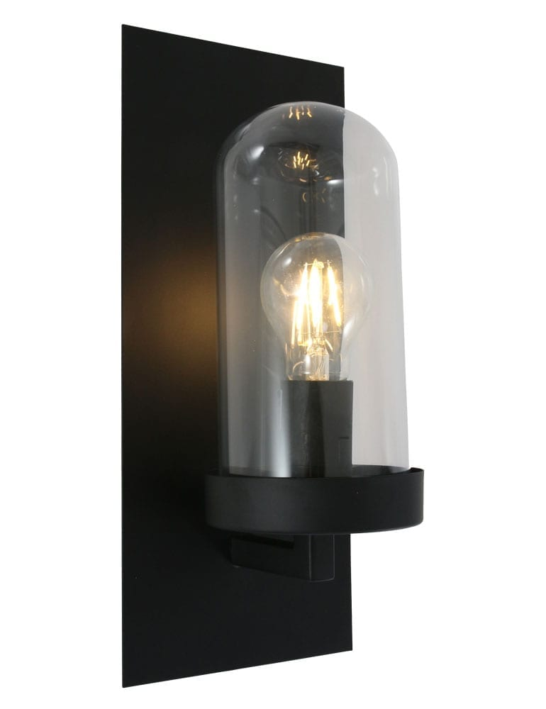 Stoere stolp muurlamp Light  Living Fendi zwart