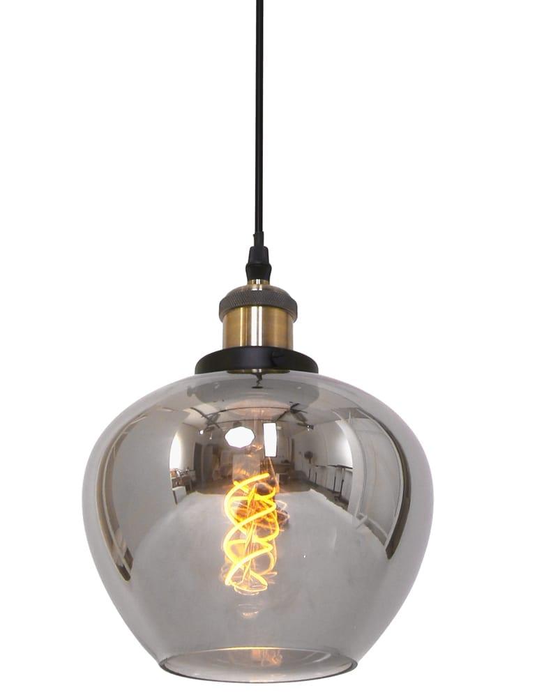 Moderne hanglamp Lumidem Eston zwart glas 28 cm