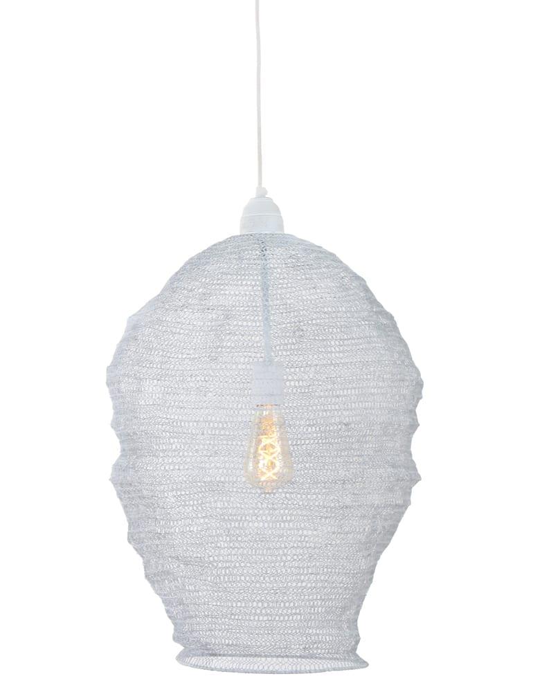 Sfeervolle gaas hanglamp Light  Living Nina wit 45 cm