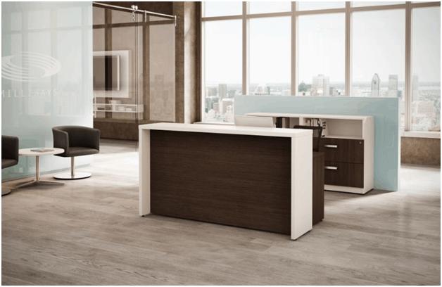 Logiflex Reception Desk M BRACE Direct Office Solutions
