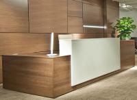 Contrasts Custom L-Shaped Reception Desks - Direct Office ...