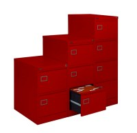 Silverline Executive 3 Drawer Filing Cabinet Red