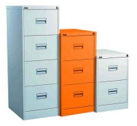 Silverline Midi Filing Cabinet 3 Drawer Orange