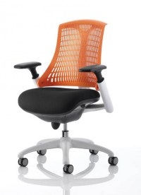 Flex Office Chair With Orange Back