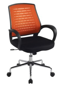 Carousel Orange Mesh Office Chair