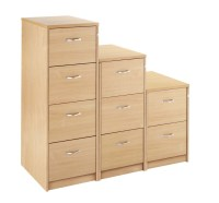 3 Drawer Executive Wooden Filing Cabinet Maple