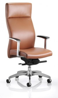 Solium Tan Leather Executive Office Chair
