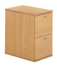 Deluxe Wood 2 Drawer Filing Cabinet Beech