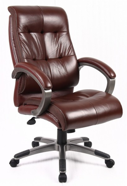 leather office chair Catania Brown Leather Office Chair