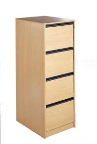 Wooden Filing Cabinet 4 Drawers