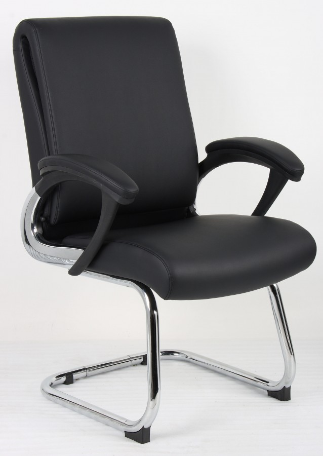 upholstered folding chairs uk for fire pit romeo leather cantilever office chair