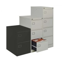 Silverline Executive 2 Drawer Filing cabinet Light Grey