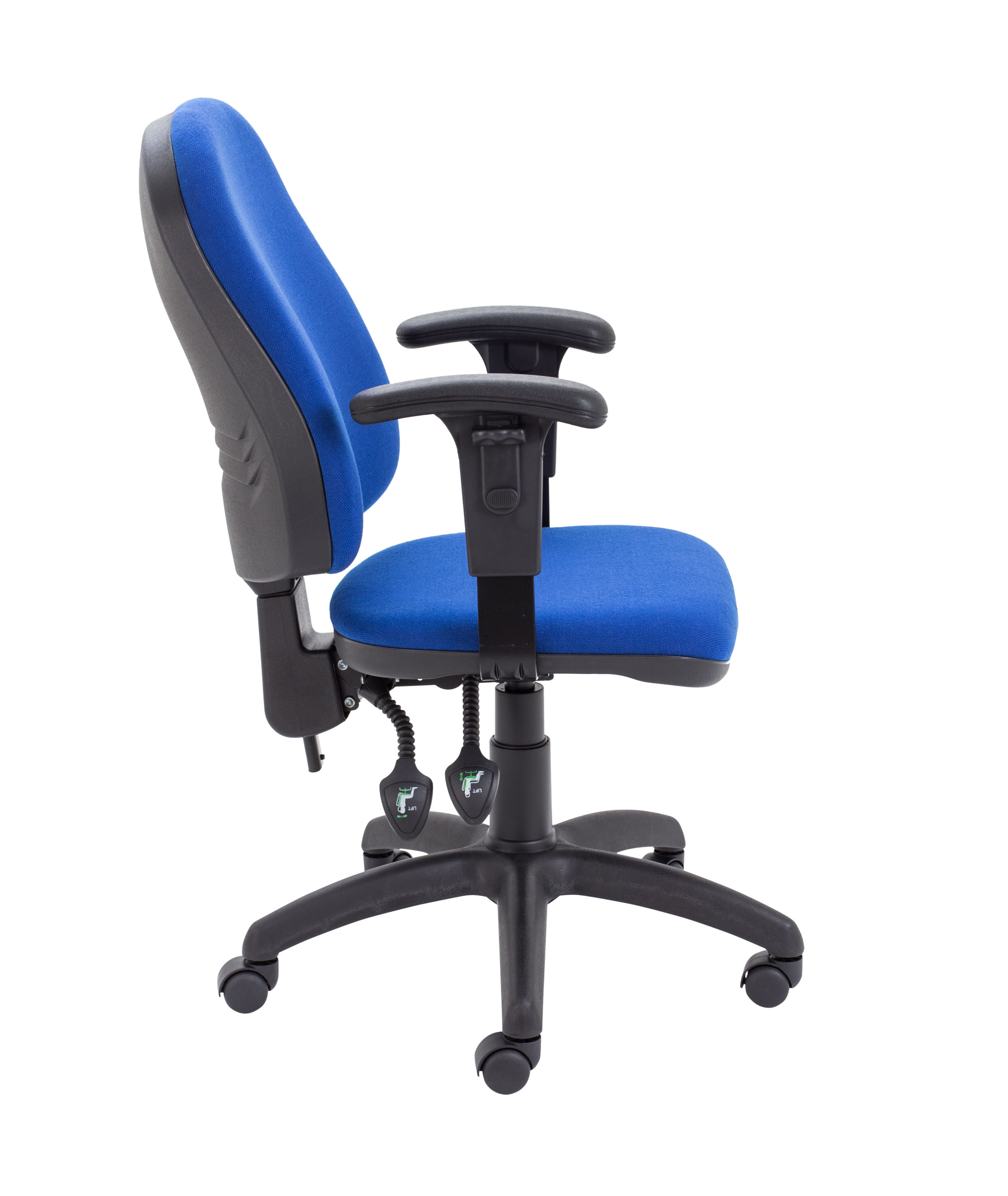 ergonomic chair levers hanging etsy 2 lever operator blue 43 adjustable arms